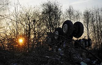Место крушения самолета Ту-154, 2010 год