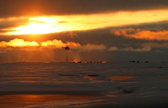 Полярная станция в Северном Ледовитом океане
