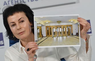 Ирина Апексимова на пресс-конференции в ТАСС
