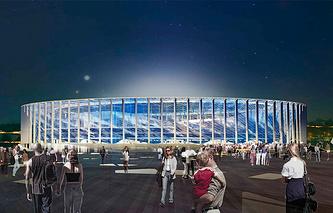 Проект стадиона в Нижнем Новгороде