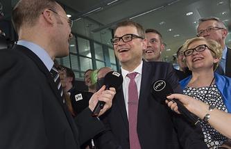 Глава партии Финляндский центр Юха Сипиля