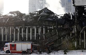 Ликвидация последствий пожара в здании фундаментальной библиотеки института РАН, 2 февраля 2015 года