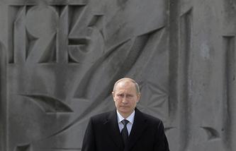 Президент России Владимир Путин на церемонии поминовения жертв геноцида армян