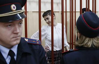 Надежда Савченко в Басманном суде, 17 апреля