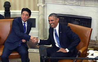 Синдзо Абэ и Барак Обама