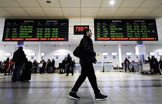 Зал ожиданий международного аэропорта Толмачево