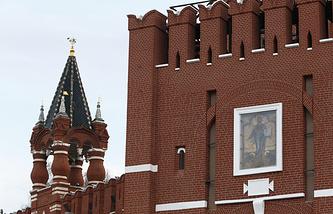 Надвратная Икона Спасителя на Спасской башне Московского Кремля