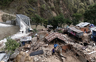 Последствия землетрясения в Непале