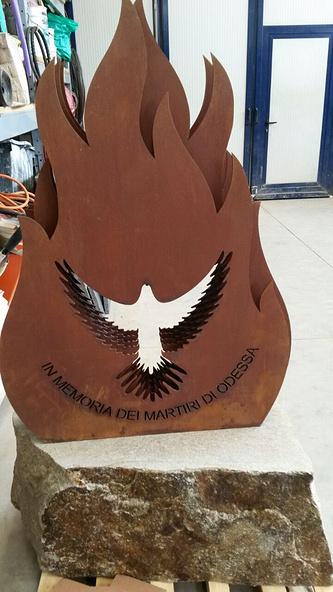 Памятник жертвам трагедии в Одессе в городе Чериано-Лагетто, Италия