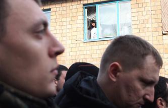 Церемония отправления призывников на военную службу в армию Украины