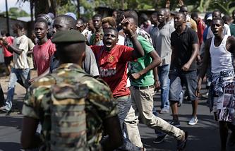 Протесты в столице Бурунди Бужумбуре