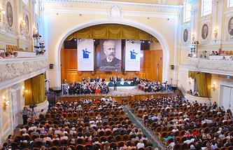 Во время ХIII Международного конкурса имени П.И. Чайковского