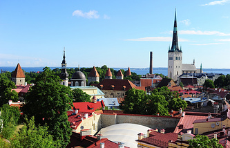 Эстония. Таллин. Вид на Старый город