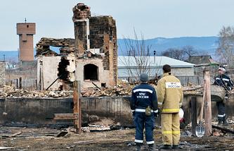 Последствия пожаров в Хакассии