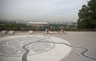 Смотровая площадка на Воробьевых горах, где запланирована установка 12-метрового памятника князю Владимиру