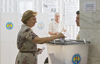 На избирательном участке в Кишиневе