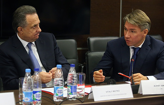 Виталий Мутко и Алексей Сорокин