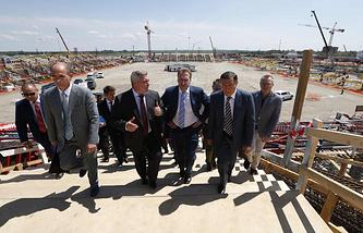 Первый вице-премьер РФ Игорь Шувалов во время визита в Ростов-на-Дону