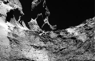 Снимок поверхности кометы Чурюмова-Герасименко