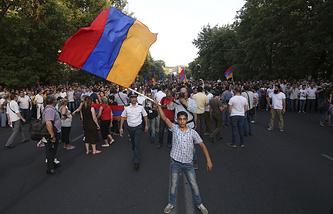 Демонстрация в Ереване