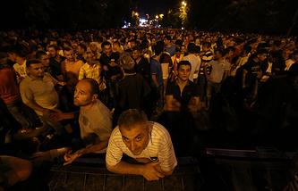 Митинг протеста в Ереване