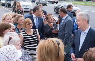Сергей Собянин открыл центральную автодорогу в посёлке Коммунарка ТиНАО Москвы