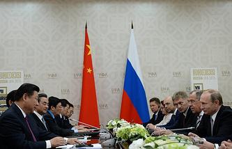 Встреча президента РФ Владимира Путина с председателем КНР Си Цзиньпином