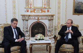 Президент Финляндии Саули Ниинистё и президент России Владимир Путин