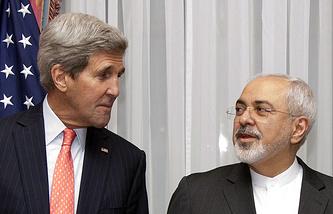 Госсекретарь США Джон Керри и министр иностранных дел Ирана Мохаммад Джавад Зариф