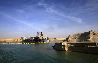 Строительство нового русла Суэцкого канала