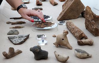 Археологические находки на месте раскопок в Кадашевской слободе