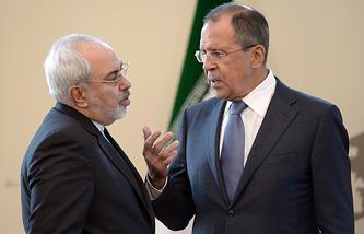 Министр иностранных дел Ирана Мохаммад Джавад Зариф и министр иностранных дел РФ Сергей Лавров