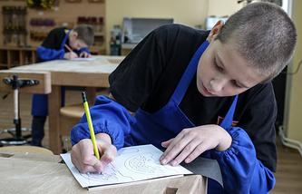 В кабинете технологии Севастопольского президентского кадетского училища