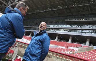 """Представители ФИФА на стадионе """"Открытие-Арена"""""""