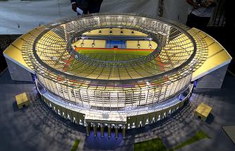Макет Центрального стадиона в Екатеринбурге