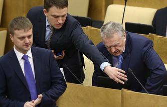 Алексей Диденко, Константин Субботин и Владимир Жириновский