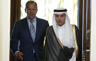 Глава МИД РФ Сергей Лавров и министр иностранных дел Саудовской Аравии Адель аль-Джубейр