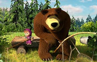 """Кадр из мультфильма """"Маша и Медведь"""""""