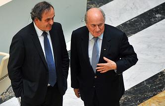 Мишель Платини и Йозеф Блаттер