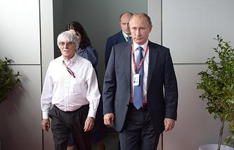 Берни Эклстоун и Владимир Путин