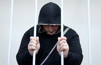 Эльман Ашаев, подозреваемый в причастности к подготовке теракта в Москве, во время рассмотрения ходатайства об аресте в Лефортовском суде