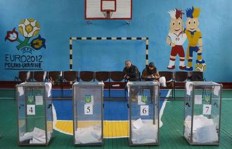 Украина. Харьков. 25 октября 2015. Во время голосования на выборах в органы местного самоуправления