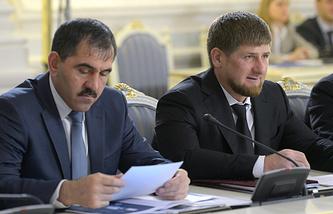 Глава Ингушетии Юнус-Бек Евкуров и глава Чеченской Республики Рамзан Кадыров