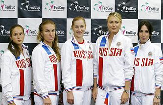 Дарья Касаткина, Светлана Кузнецова, Екатерина Макарова, Мария Шарапова и Анастасия Мыскина