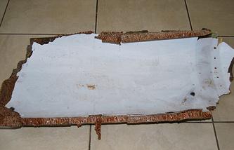 Обломок, найденный у побережья Восточной Африки