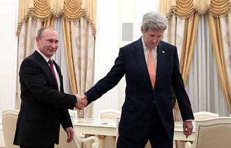 Владимир Путин и Джон Керри, 24 марта