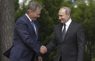 Президент Финляндии Саули Нийнисте и президент России Владимир Путин