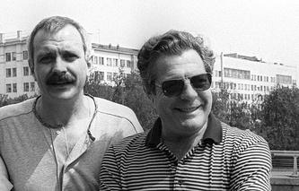 Никита Михалков и Марчелло Мастроянни, 1987 год