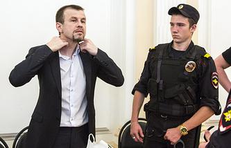 Бывший мэр Ярославля Евгений Урлашов во время оглашения приговора в Кировском районном суде