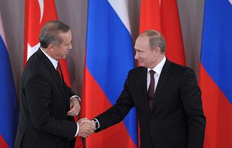 Премьер-министр Турции Реджеп Тайип Эрдоган и президент РФ Владимир Путин, 2013 год